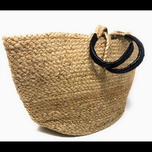 H&M Natural Large Beach Bucket Shopping Bag